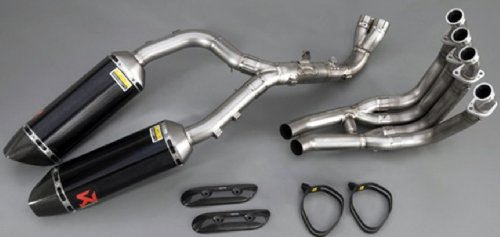 Yamaha OEM Motorcycle YZF-R1 -Complete EVO Exhaust System by Akrapovic® - Titanium Can/End Cap/Headers with Crossover Tubes. OEM ABA-0SS56-21-64