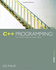 C Programming From Problem Analysis to Program Design by D. S. Malik