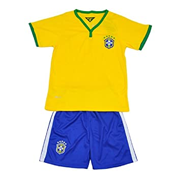 Buy CM-CG Men Home Brazil Soccer Jersey World Cup 2014 & Shorts Set 2 Pc by CM-CG