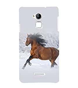 printtech Nature Animal Horse Back Case Cover for Coolpad Note 3 Lite Dual SIM with dual-SIM card slots