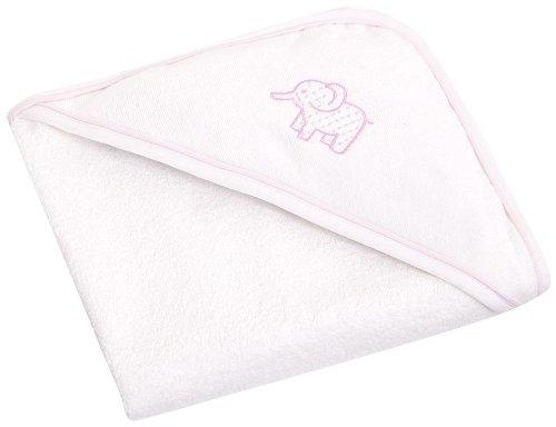 JoJo Maman Bebe Elephant Hooded Towel - Pink - 1