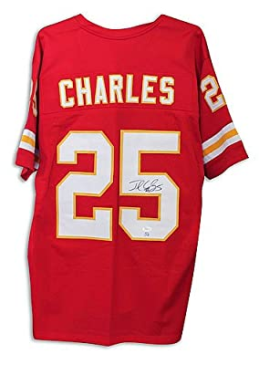 Jamaal Charles Kansas City Chiefs Autographed Red Jersey - Authentic Signed Autograph