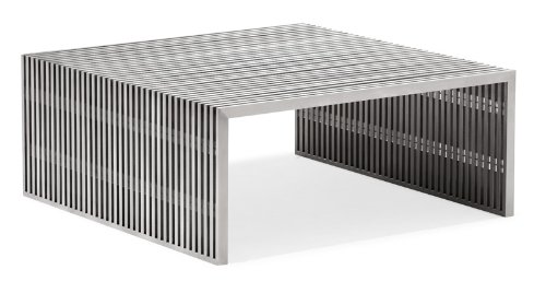 Zuo Novel Square Coffee Table, Stainless Steel
