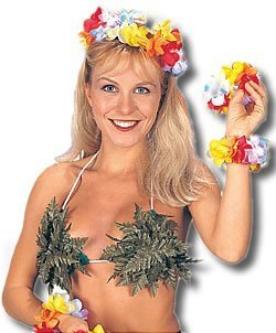 Jungle Leaf Bikini Top Costume