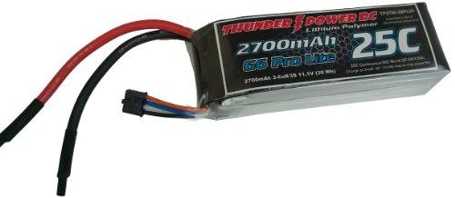 Thunder Power RC 2700mAh 3-Cell/3S 11.1V G6 Pro Lite 25C LiPo Battery