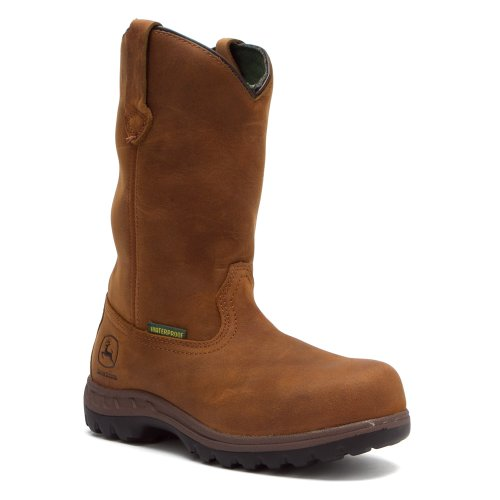 John Deere Work Boots Womens Waterproof Steel Toe 6.5 M Poplar JD3304