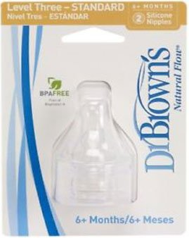 Dr. Brown's 2 Pack Natural Flow Level 4 Standard Nipple - 1