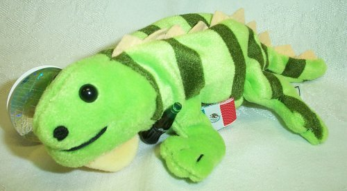 Coca-Cola Bean Bag Plush Paco the Iguana representing Mexcio
