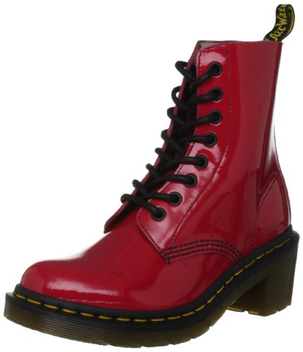 Dr. Martens Women's Clemency Patent Red Lace Ups Boots 14638601 6 UK