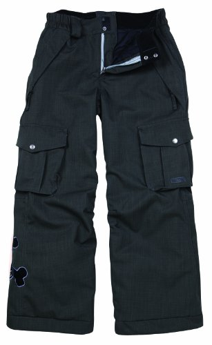 Paul Frank Boys' Skurvy Insulated Pant-Herringbone Denim (Gunmetal, Large)