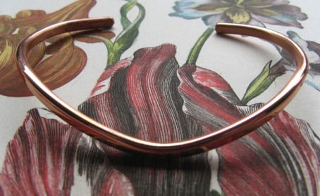 Ladies 7 Inch Solid Copper Cuff Bracelet #210M