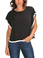 La belle parisienne Camiseta Manga Corta Lauren (Negro)