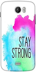 Snoogg Stay Strong Designer Protective Back Case Cover For Micromax A110