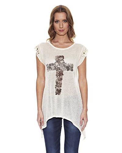Peace & Love T-Shirt Manica Corta [Écru]