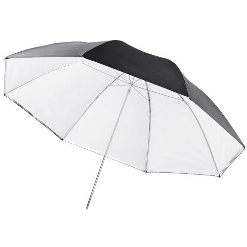 Walimex Pro Parapluie réflecteur/translucide 2-en-1 (109cm), blanc