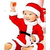 クリスマスに!! 子供用 サンタクロース コスプレ クリスマス ハロウィン の プレゼント に 子供服 こども 子供 仮装 衣装 販売 パーティグッズ パーティ衣装 宴会グッズ パーティーグッズ 簡単 イベント ハロウィーン かぼちゃ イラスト ハロウィンパーティー ゲーム 人気 ハッピーハロウィン 男の子 女の子 (80サイズ)