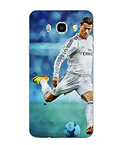 Make My Print Cristiano Ronaldo Printed Multicolor Soft Back Cover For SAMSUNG Galaxy J5 - 6 (New 2016 Edition)