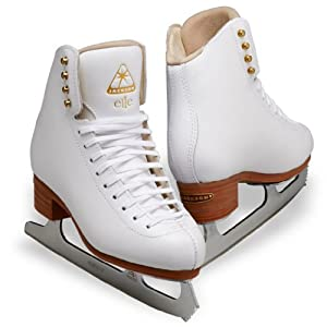 Jackson Elle Ice Skates - DJ2130 Ladies White Figure Ice Skates by Jackson