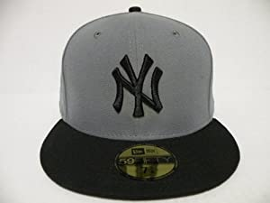 NewEra Authentic MLB New York Yankees 2Tone Gray Black 59Fifty Cap New Era 7 5/8