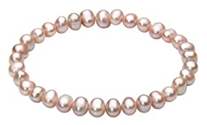 Dew Elastic Stretch Pink Pearl Bracelet 78306PP