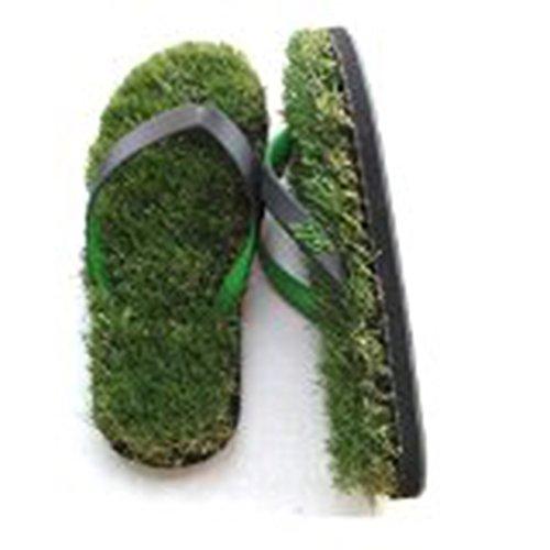 GFF Grass Flip Flop Sandal Shoes (Green/Black) XS (5.5-7)