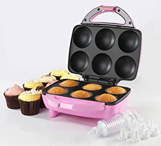 Review and Buying Guide of Cheap American Originals EK0720 Bundle - Cupcake Maker plus icing kit with 8 nozzles and 50 paper cupcake cases - UK Model Mark II - Pink