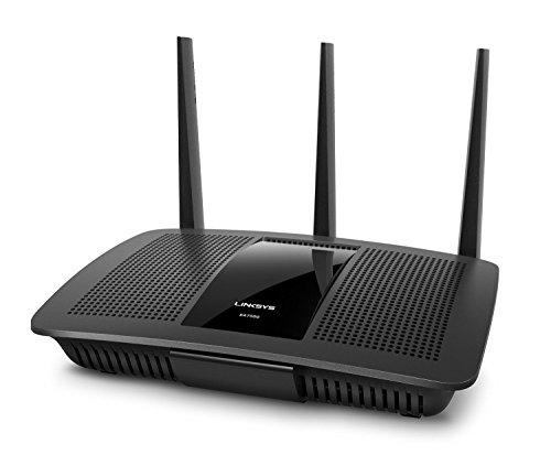 Linksys EA7500-EU Router MU-MIMO MAX-STREAM AC1900, Velocità fino a 1,9 Gbps, Processore Dual Core da 1,4 GHz, 4 Porte Gigabit, Software Smart Wi-Fi per Controllo Rete, per Streaming 4K, Videogiochi Online, 3 Antenne Rimovibili, Nero