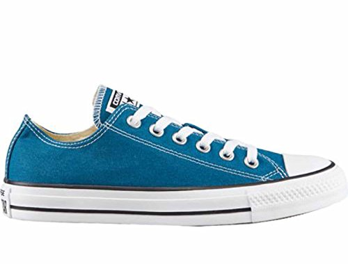 Converse Unisex Mens Chuck Taylor All Star Ox Fashion Sneaker Shoe, Blue Lagoon, 7.5