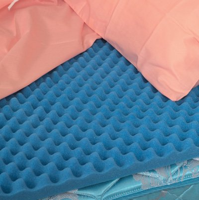 "Egg Crate 4"" Foam Mattress Pad/Topper Twin XL 4x33x76"