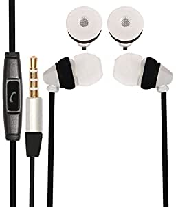 Premium 3.5mm In Ear Bud Handsfree Headset Earphones With Mic Compatible For Motorola Moto G4 Play -White