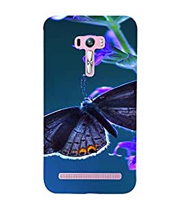 PrintVisa Butterfly Design 3D Hard Polycarbonate Designer Back Case Cover for Asus Zenfone Selfie