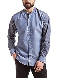 Prym Men's Casual Shirt (8907423052451_2011543702_X-Large_Blue)