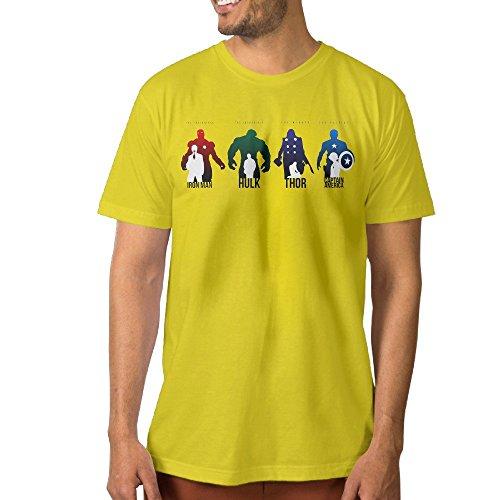 Funny Men's Tshirt Iron Giant Thunder Union S Yellow