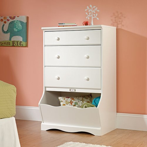 Best Price Sauder Pogo 3-Drawer Chest, Soft White Finish