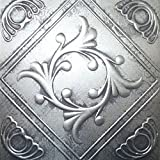 """Ceiling Tile - Faux Tin Like - Anet Antique Silver 20x20"""""""