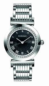 Versace P5Q99D009 S099 - Reloj analógico de cuarzo unisex con correa de acero inoxidable, color plateado