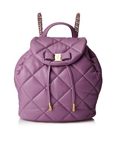 Salvatore Ferragamo Women's Giuliette Quilted Backpack, Lila
