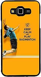 PrintVisa 2D-SGJ7-D8106 Sports Badminton Quotes Case Cover for Samsung Galaxy J7 SM-J700F