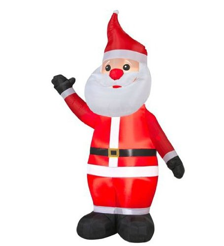 8' Tall Airblown Santa Christmas Inflatable -