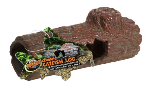 Zoo-Med-FA-51E-Ceramic-Catfish-Log-MED-Aquarien-Versteck-fr-Welse-in-Baumstammoptik