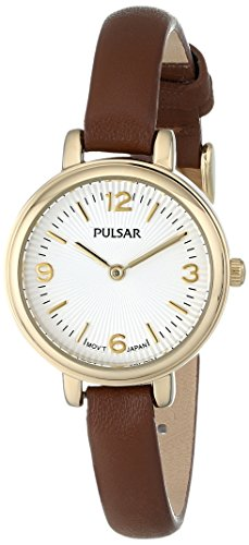 Pulsar Two-Hand Leather - Brown Women's watch #PM2088