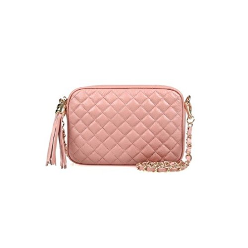 dearwyw-women-genuine-cow-leather-mini-waffle-quilted-square-cross-body-shoulder-bag-indipink