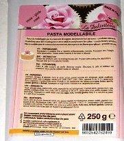 Pasta de modelar - Para crear objetos decorativos y flores para tartas - 250 gramos - Rosa - 5225
