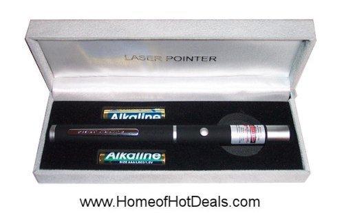 Black Rubber Dimple Grip Laser Pointer