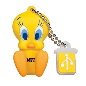 EMTEC Looney Tunes 4 GB USB 2.0 Flash Drive, Tweety Bird