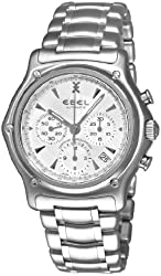 Ebel Men's 9137L40/6360 1911 Silver Chronograph Dial Watch