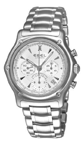 Ebel Men's 9137L40/6360 1911 Silver Chronograph Dial Watch