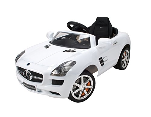 Huffy Bicycle Company 6 Volt Electric Mercedes Benz Sls Amg Convertible Ride On Car, 42-Inch/Medium, White