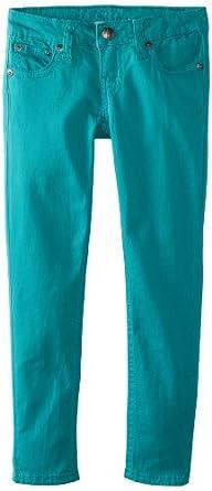 Request Big Girls' Color Twill Pants, Dark Lagoon, 8