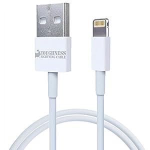 ecostyle TOUGHNESS/タフネスケーブル Lightning - USBケーブル[1m][TOUGHロゴ入り] iPhone6/iPhone5S/iPhone5C/iPhone5/